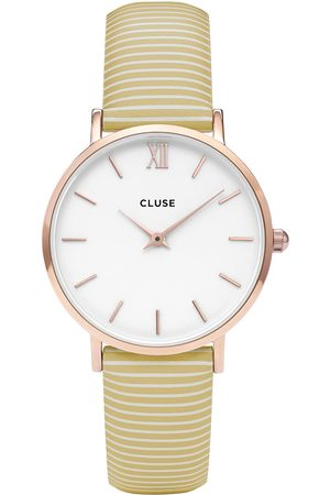 Cluse Horloges-Minuit Rose Gold White