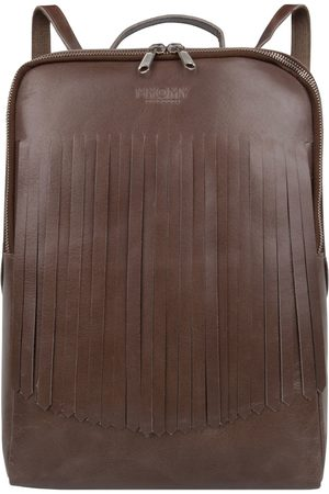 Myomy Laptoptassen-My Gym Bag Back Bag Fringes-Taupe