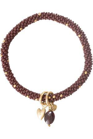 A Beautiful Story Armbanden-Jacky Garnet Heart Gold Bracelet