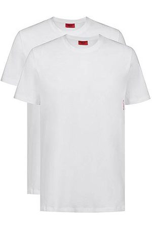 HUGO BOSS Two cotton loungewear T-shirts with vertical logo