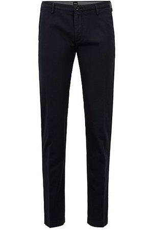 HUGO BOSS Heren Chino's - Slim-fit chino in een gabardine van stretchkatoen