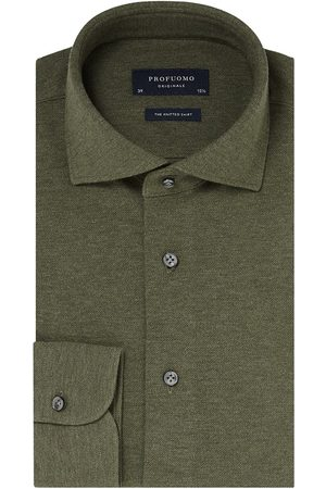 Profuomo Originale Slim fit Knitted Heren Overhemd LM