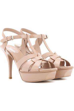 Saint Laurent Tribute 75 patent-leather platform sandals