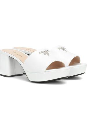 Prada Plateau leather sandals