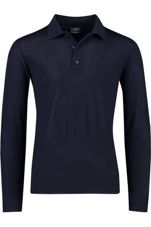 Paul & Shark Lange mouw polo merino navy
