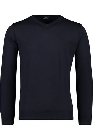 Paul & Shark Heren Pullovers - Pullover v-hals merino navy