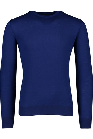 Paul & Shark Pullover merino kobalt crew neck