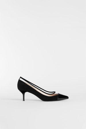 Zara VINYL PUMPS MET HALFHOGE HAK