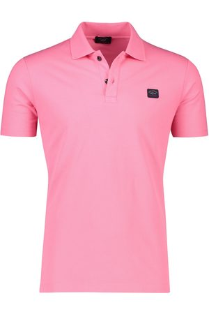 Paul & Shark Polo katoen fuchsia