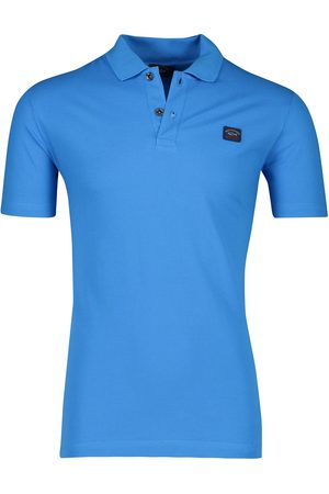 Paul & Shark Katoenen polo turquoise