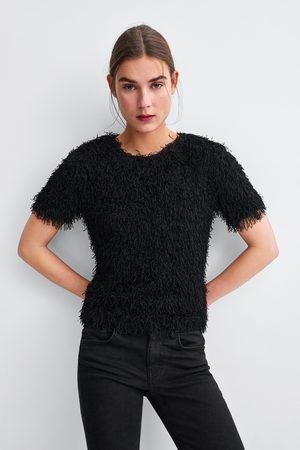 Zara T-SHIRT MET FRANJES
