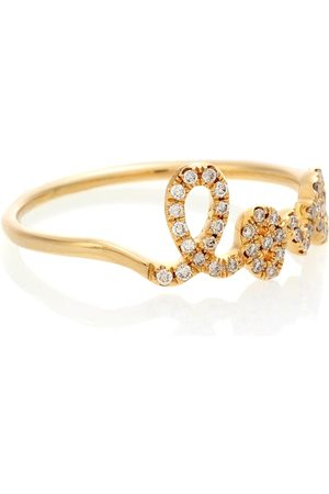 Sydney Evan Dames Ringen - Love 14kt and pavé diamond ring