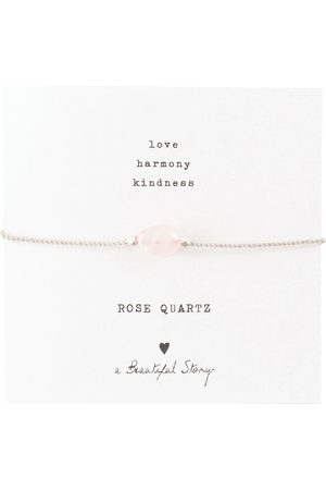A Beautiful Story Armbanden-Gemstone Card Rose Quartz Silver Bracelet