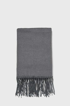 Zara Heren Sjaals - Effen sjaal met franjes
