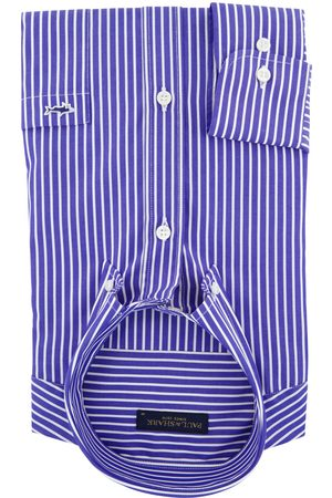 Paul & Shark Overhemd blauwe streep button down