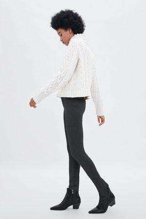 Zara PIED-DE-POULE LEGGING MET HOGE TAILLE