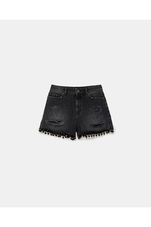 Zara Shorts - SHORT Z1975 MET POMPONS