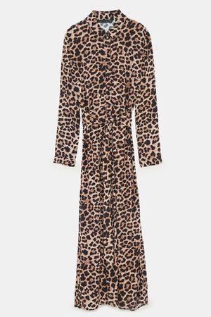 Zara Geprinte jurken - LANGE JURK MET DIERENPRINT