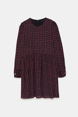 Zara HEART PRINT JUMPSUIT DRESS