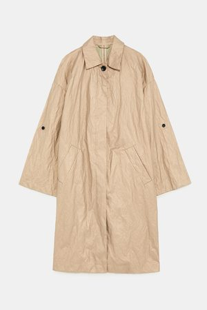 Zara CREASED-EFFECT TRENCH COAT
