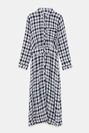 Zara Geprinte jurken - GERUITE OVERHEMDJURK