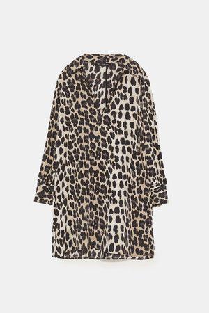 Zara LEOPARD PRINT SHIRT DRESS