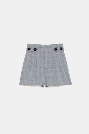 Zara PAPER BAG BERMUDA MET KNOPEN