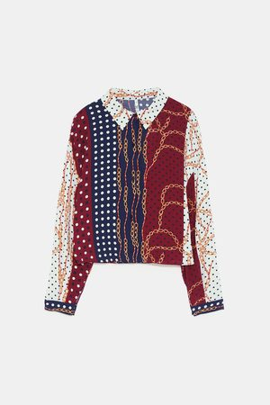 Zara TOP MET KETTINGPRINT