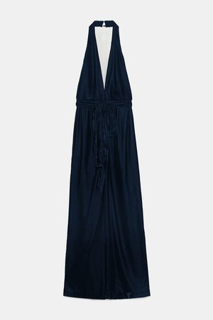 Zara JUMPSUIT IN FLUWEEL LOOK