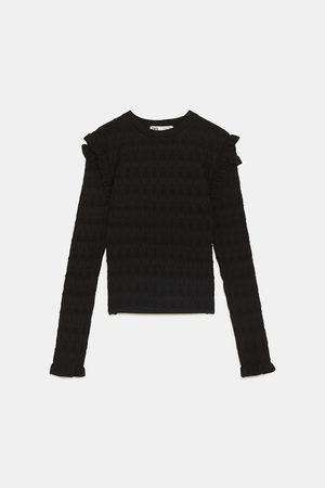 Zara Gestructureerde trui met volants