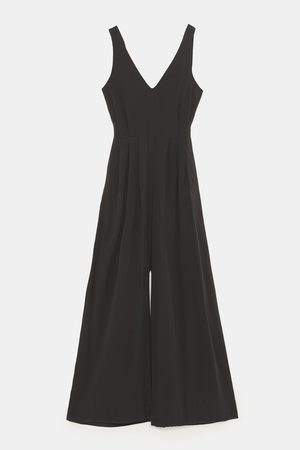 Zara FLOWING JUMPSUIT WITH BOW