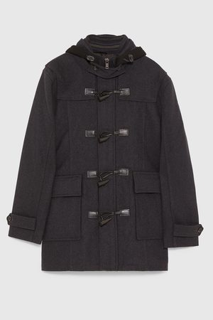 Zara DUFFEL COAT WITH HOOD