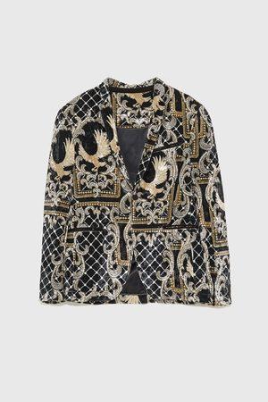 Zara Fluwelen blazer met print