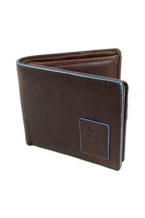 GAZ Heren Portemonnees - Leren heren Bilfold RFID blocking portemonnee laag bruin