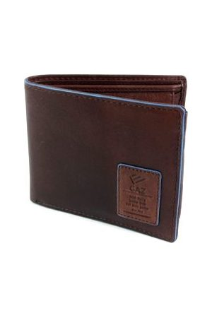 GAZ Heren Portemonnees - Leren heren Bilfold RFID blocking portemonnee bruin