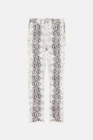 Zara JEANS ZW PREMIUM HIGH WAIST MET SLANGENPRINT