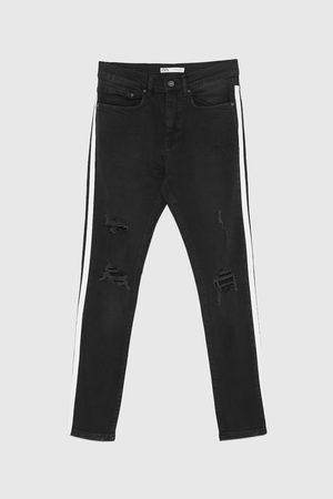 Zara Denim broek met zijstrook