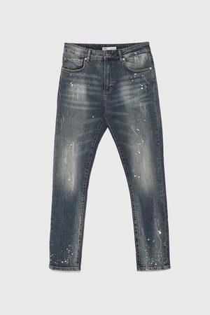 Zara Denim broek met verfspatten
