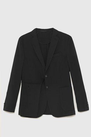 Zara Technische seersucker blazer