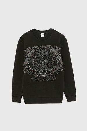 Zara Sweatshirt met glanzend doodshoofd