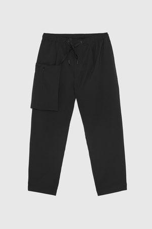 Zara Technische seersucker broek