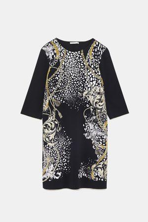 Zara Combi-jurk met waxed print