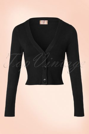 Banned Retro Dames Cardigans - 50s Lets Go Dancing Cardigan in Black