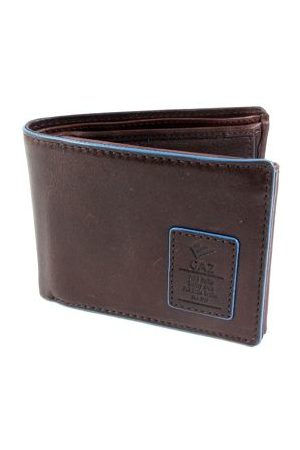 GAZ Heren Portemonnees - Heren Bilfold RFID blocking portemonnee laag Bruin