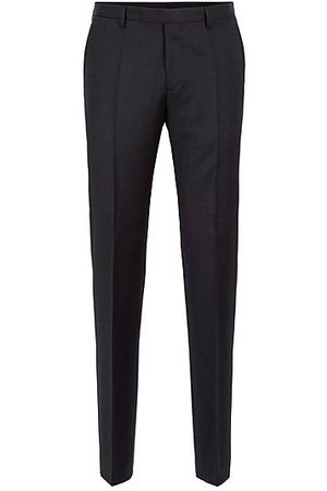 HUGO BOSS Regular-fit trousers in melange virgin wool