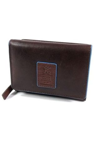 GAZ Ruime dames rits portemonnee met klep RFID Bruin