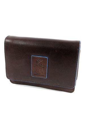 GAZ Ruime dames portemonnee met klep RFID Bruin