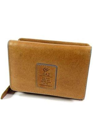 GAZ Dames Portemonnees - Ruime dames rits portemonnee met klep RFID Cognac