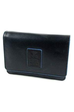 GAZ Ruime dames portemonnee met klep RFID zwart