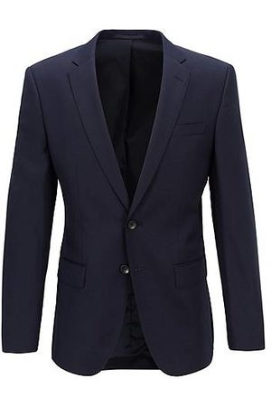HUGO BOSS Heren Wollen jassen - Slim-fit jacket in melange virgin wool